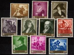 España 1958 Edifil 1210/19 ** - Goya Serie Completa - 1931-Aujourd'hui: II. République - ....Juan Carlos I
