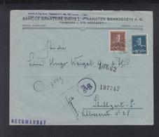 Romania Registered Cover Timisoara To Stuttgart Censor - Covers & Documents