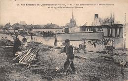 - AY - Les Emeutes En Champagne - Les Etablissements De La Maison BISINGER Et Les Vignes Le Lendemain De L'émeute - Ay En Champagne