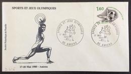 D416 Sports Et Jeux Olympiques Amiens 17/5/1980 2074 Championnat Du Monde De Judo Sports Et Jeux Olympiques - Postmark Collection (Covers)