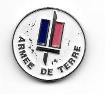 Jeton De Caddie  Argenté  Fond  Blanc, Militaire  ARMÉE  DE  TERRE  Recto  Verso  ( Utilisé ) - Einkaufswagen-Chips (EKW)