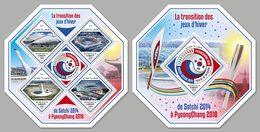 DJIBOUTI 2018 - Olympics Sochi To PyeongChang - YT 1908-11 + BF285; CV=40 € - Winter 2018: Pyeongchang