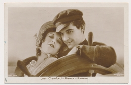 JOAN CRAWFORD RAMON NOVARRO Actor, Vintage Old ROSS Photo Postcard - Actors