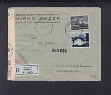 Croatia Registered Cover 1943 To Stuttgart Censor - Croatia