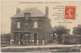 ROCHER De SAINT PERN - Horlogerie - Bijouterie Jh; BELAN - Personnage Devant La Bijouterie.( Carte Très Rare ) - France