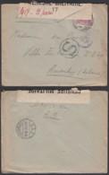 """Belgique - COB 140 Sur Lettre Vers Aardenburg """" Censure Nº17 """" (DD)DC3064 - WW I"""