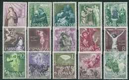 ESPAÑA 1962 - Edifil 1463/77** - Misterios Del Santo Rosario - 1931-Tegenwoordig: 2de Rep. - ...Juan Carlos I