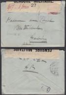 """Belgique - COB 140 Sur Lettre Vers Aardenburg """" Censure Nº27 """" (DD)DC3065 - WW I"""