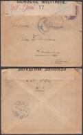 """Belgique - COB 140 Sur Lettre Vers Aardenburg """" Censure Nº17"""" (DD)DC3069 - WW I"""