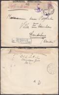 """Belgique - COB 140 Sur Lettre Vers Aardenburg """" Censure Nº46"""" (DD)DC3070 - WW I"""