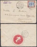 "Soudan 1911 - Lettre De Port Soudan Vers Belgique - Verso Vignette"" Kosmos "" (DD) DC 3091 - Sudan (1954-...)"