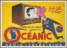 Publicité - Oceanic Radio-Télévision, C.1990 - Nugeron CPM - Advertising