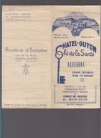 Chatel Guyon (63) Liste Des Commercants, Et Des Villas Meublées / Non Daté - Publicités