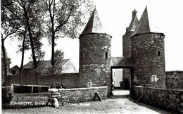 SOMBREFFE Entrée Du Vieux Château Féodal  Carte Photo - Sombreffe