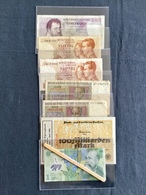 Lot De 30 Billets BELGIQUE,ALLEMAGNE,ROUMANIE  (1920 / 24 /56/  64 / 66 / 74 / 2005) Utilisé,neuf. - Munten & Bankbiljetten
