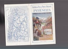 Chemin De Fer De Paris à Orléans / Les Pyre,ees / été 1910 / - Advertising