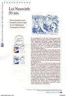 """"""" 50 ANS DE LA LOI NEUWIRTH """" Sur Document Philatélique Officiel De 2017  N°YT 5121. Parfait état DPO - 2010-...."""