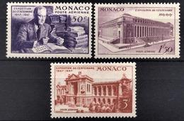 MONACO 1947 SERIE N° 22 / 23 / 24 -  NEUFS** /5 - Poste Aérienne