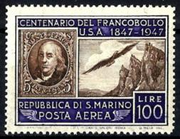 San Marino A-66 Con Charnela - Corréo Aéreo