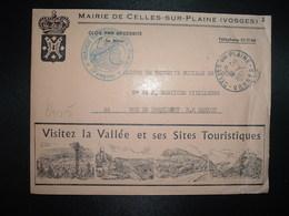 LETTRE MAIRIE OBL.14-4 1967 CELLES SUR PLAINE VOSGES (88)Visitez La VAllée Et Ses Sites Touristiques - Postmark Collection (Covers)