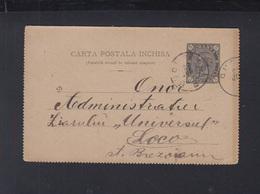 Romania Letter Card Bucuresti 1892 - Ganzsachen