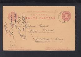 Romania Stationery 1884 Focsani To Germany - Interi Postali