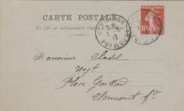 Vertaizon 63 - Commerce Quincaillier Orliac Antoine - Cachet Postal 1912 - Non Classés