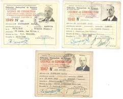 3 Licences De Conducteur, Fédération Motocycliste De Belgique, Zaougaroff Boris Né En Russie, Uccle, Bruxelles - Other