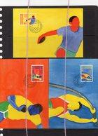 19/5 Liechtenstein 3 Cartes Maximum Card Jeux Olympiques 1984 Los Angeles Poids Perche Disque Lancement - Olympische Spelen