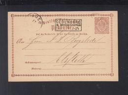 Dt. Reich GSK 1874 Kastenstempel Oldenburg 1874 - Storia Postale