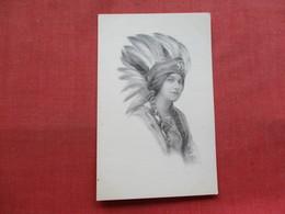 Beautiful Female Indian      Ref 3332 - Native Americans