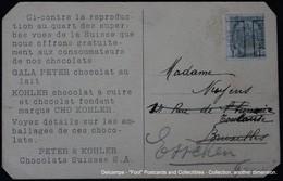 Preo JODOIGNE 1911 GELDENAKEN Gala Peter Kohler Chocolats Suisses Chocolade Chocolate - Precancels