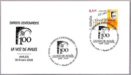 Periodico - Newspaper - Journal  - LA VOZ DE AVILES. SPD/FDC Aviles, Asturias, 2008 - Otros