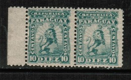 PARAGUAY  Scott # 13** F-VF MINT NH HORIZONTAL PAIR (Stamp Scan # 498) - Paraguay