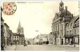 MONTDIDIER  (80)  - LA PLACE DE L'HOTEL DE VILLE  (1910)    Bb-274 - Montdidier