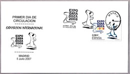 Exp. Internacional EXPO ZARAGOZA 2008 - Aragon. SPF/FDC Madrid 2007 - Exposiciónes Universales