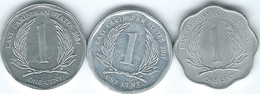 East Caribbean - Elizabeth II - 1 Cent - 1983 (KM10) 2004 (KM34) 2011 (KM34a) - East Caribbean States