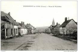 PIERREPONT-SUR-AVRE (80) - LA ROUTE DE MONTDIDIER -      Bb-279 - Amiens