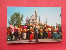 Disneyland  Sleeping Beauty Castle- Walt Disney & Mickey Mouse   Has 4  Pin Hole Ref 3333 - Disneyland