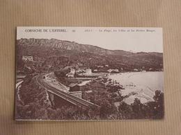 CORNICHE DE L' ESTEREL Agay La Plage Chemin De Fer Villas Roches Département 06 Alpes Maritimes Carte Postale France - Cannes