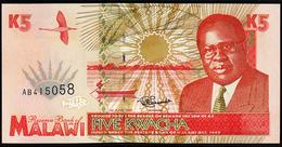 # # # Banknote Malawi 5 Kwachas UNC # # # - Malawi