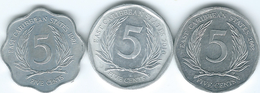 East Caribbean - Elizabeth II - 5 Cents - 1981 (KM12) 2008 (KM36) 2010 (KM36a) - East Caribbean States