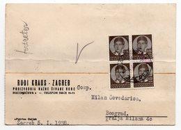 1938 YUGOSLAVIA, CROATIA, ZAGREB, CORRESPONDENCE CARD, RUDI KRAUS -ZAGREB - 1931-1941 Kingdom Of Yugoslavia
