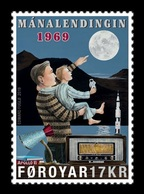 Faroe Islands 2019 Mih. 954 Space. Apollon 11. Moon Landing MNH ** - Faroe Islands