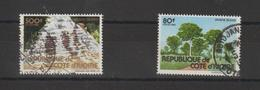 Cote D'Ivoire 1982 Série Tourisme 645B Et 646A 2 Val Oblit/used - Ivory Coast (1960-...)