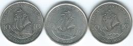 East Caribbean - Elizabeth II - 10 Cents - 1981 (KM13) 2004 (KM37) 2009 (KM37a) - East Caribbean States