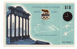1960 SUMMER OLYMPIC GAMES, ROME, ITALY, TICKET FOR WATER POLO, USED - Tickets - Vouchers