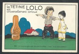 +++ CPA - Carte Publicitaire - Publicité Tétine LOLO - Enfant - Bébé Ets J.B. Paris  // - Publicité