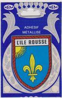 730 - 20. 2B - L'ILE ROUSSE . CARTE POSTALE BLASON ADHESIF L'ILE ROUSSE SCANS RECTO VERSO - France