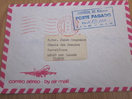 Lettre Enveloppe Bolivie 1985 - Bolivië
